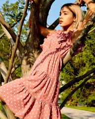 летнее платье в горох недорого
