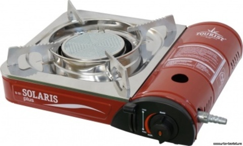 Газовая плита керамическая SOLARIS PLUS (с кейсом и переходником), TS-701