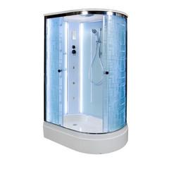 Душевая кабина DETO ЕМ2712 L 120х80 см с LED подсветкой и гидромассажем