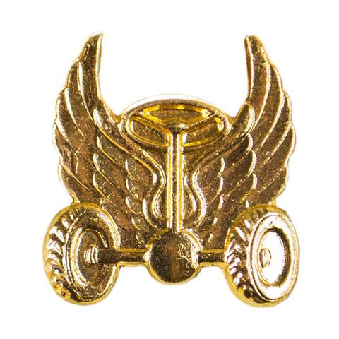 Эмблема петличная Автомобильные войска, металл. золотой