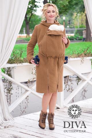 Слингопальто демисезонное 4в1 Diva Outerwear Camello (без вставки для беременных)