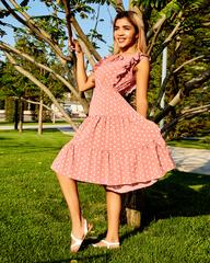 летнее платье в горох купить