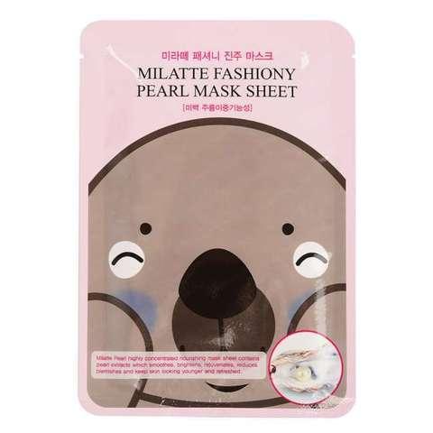 МЛТ Маска тканевая с экстрактом жемчуга MILATTE FASHIONY PEARL MASK SHEET 21гр (10702070/171019/0214
