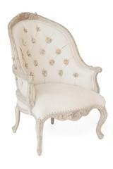 Кресло Secret De Maison LOUVRE ( mod. CHA 17-43 ) красное дерево/ткань хлопок, Натуральный Минди, ткань D.Dominic Beige
