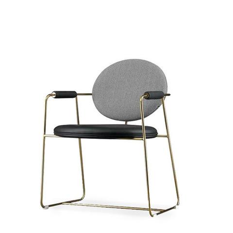 Стул-кресло Gemma by Baxter (черно-серый)