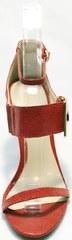Модные босоножки с открытым носком и закрытой пяткой Via Uno1103-6605 Red.