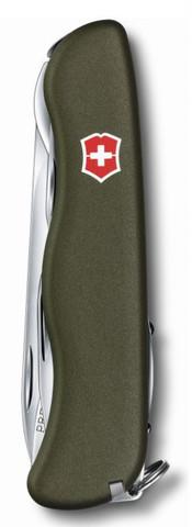 Нож Victorinox Outrider,111 мм, 14 функций, зеленый