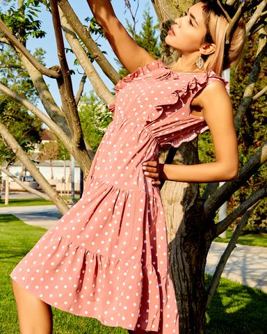 летнее платье в горох nadya