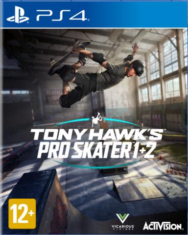 Tony Hawk's Pro Skater 1 + 2 (PS4, английская версия)