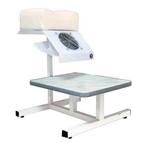 Педикюрная подставка с вытяжкой 60 Вт и ванночкой HB  (Цвет:Белый)