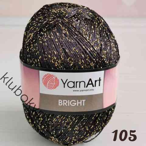 YARNART BRIGHT 105, Черный золото