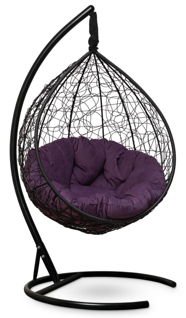 SEVILLA VERDE VELOUR черное + фиолетовое