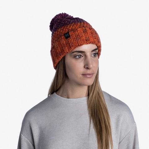 Шапка вязаная с флисом Buff Hat Knitted Polar Janna Fuchsia фото 2