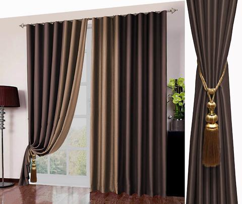 Комплект штор блэкаут Фелиция темный шоколад