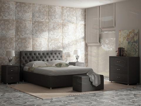 Кровать Флоренция Сонум серая рогожка глазго