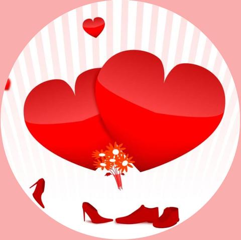 Печать на вафельной бумаге, День Влюбленных 18