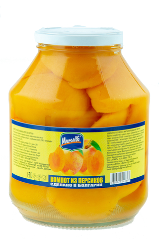 Компот из персиков 1,62 лит