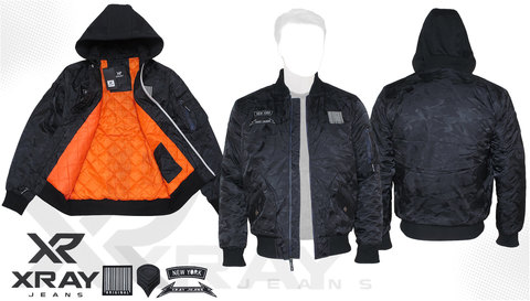 Куртка утепленная 'MA-1 Hooded New York' Black Camo
