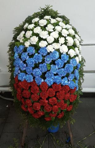 Венок из живых цветов заказной ВЖ-09
