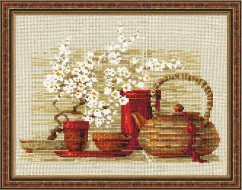 Набор для вышивания крестом «Чай» (1122)