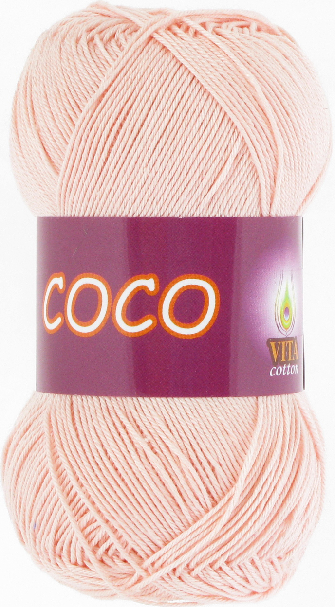 Пряжа Vita Coco 4317 розовая пудра