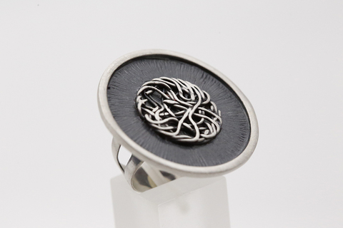 Серебряное кольцо без камней КО-Z2090401190 Литва