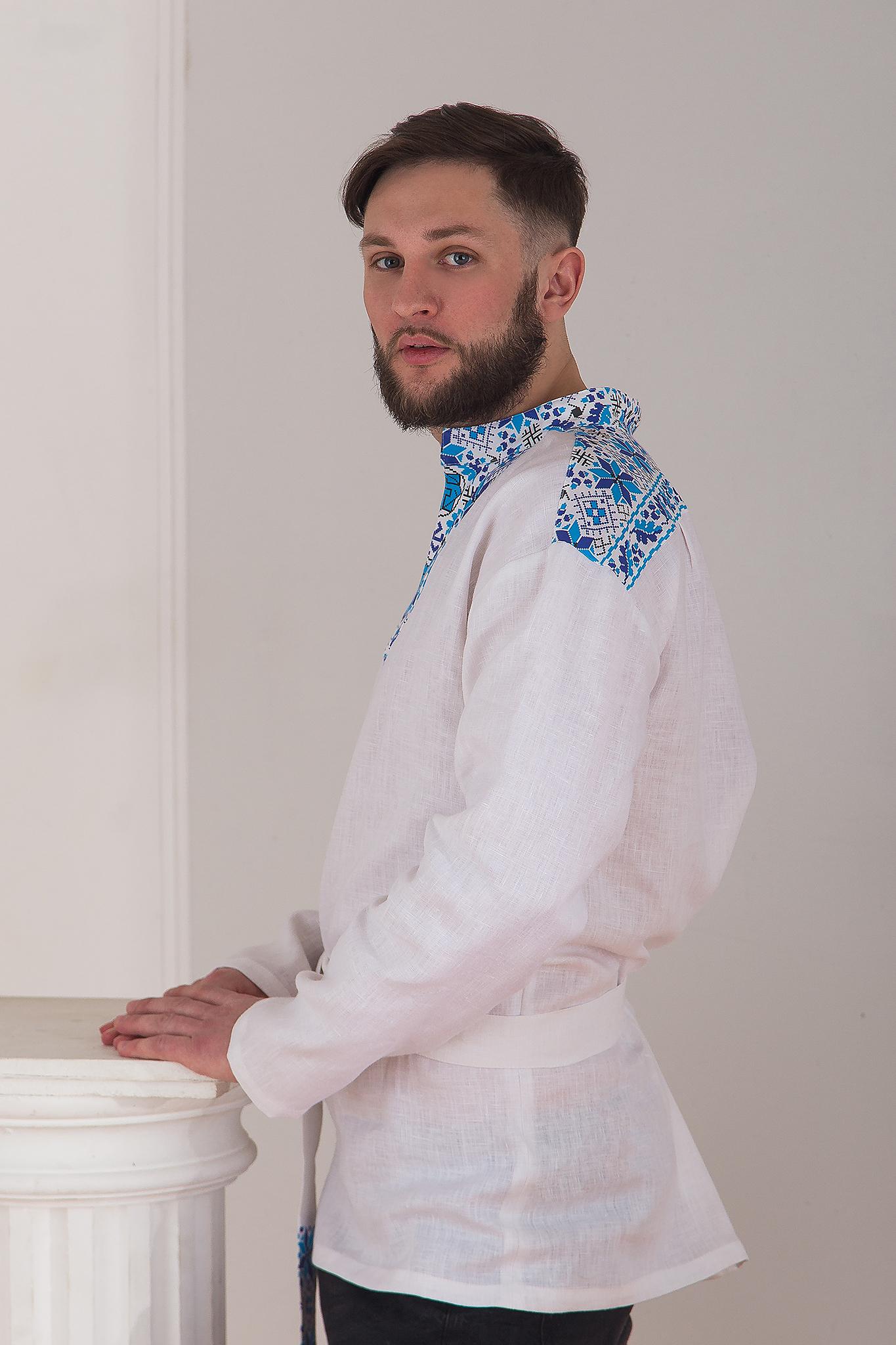 Льняная мужская рубаха Северная