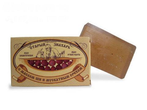 Мыло Старый знахарь с маслом ши и мускатным орехом