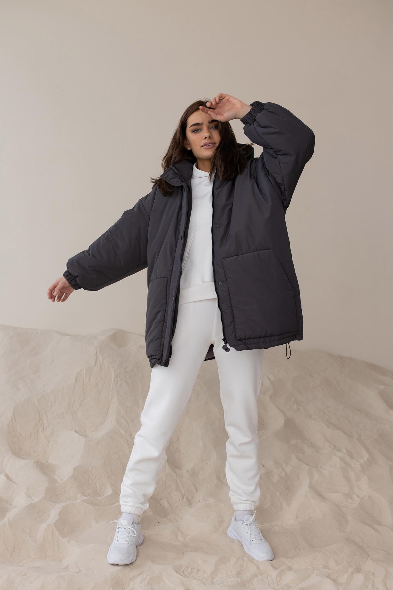 Куртка бойфренда графитового цвета