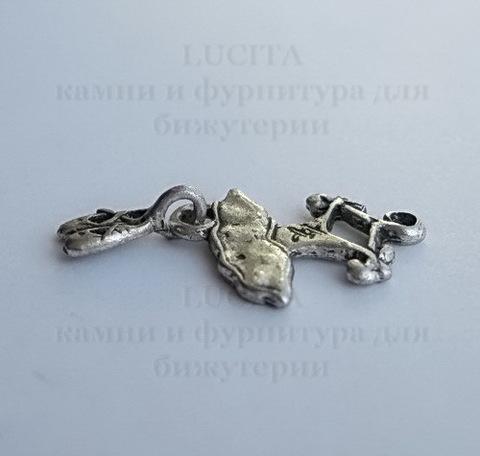 "Подвеска ""Пачка и пуанты"" (цвет - античное серебро) 26х13 мм ()"