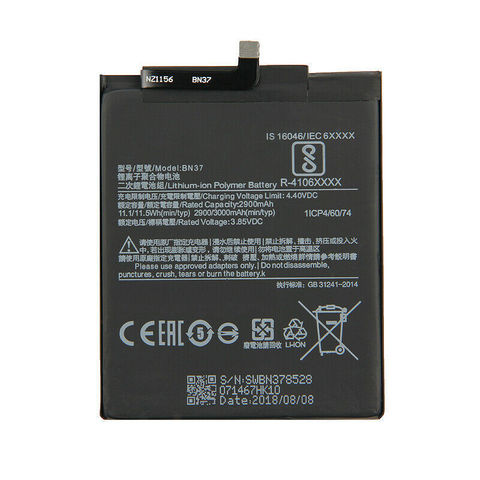Battery Xiaomi BN37 Redmi 6 2400mAh MOQ:20