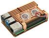 Корпус для Raspberry Pi 4 с вентиляторами (LT-4B02 / алюминий / золотой)