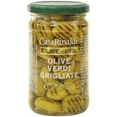 Оливки Casa Rinaldi зеленые без косточки жареные на гриле, 275г