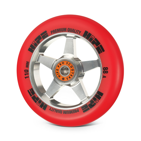 Колесо HIPE H09 110мм silver/red