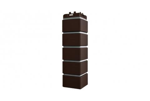 Наружные углы к фасадным панелям GRAND LINE Кирпич Клинкерный Премиум Шоколад