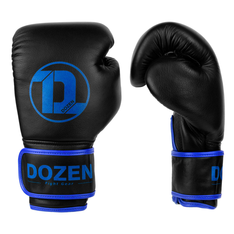 Перчатки Dozen Monochrome Black/Blue вид сбоку