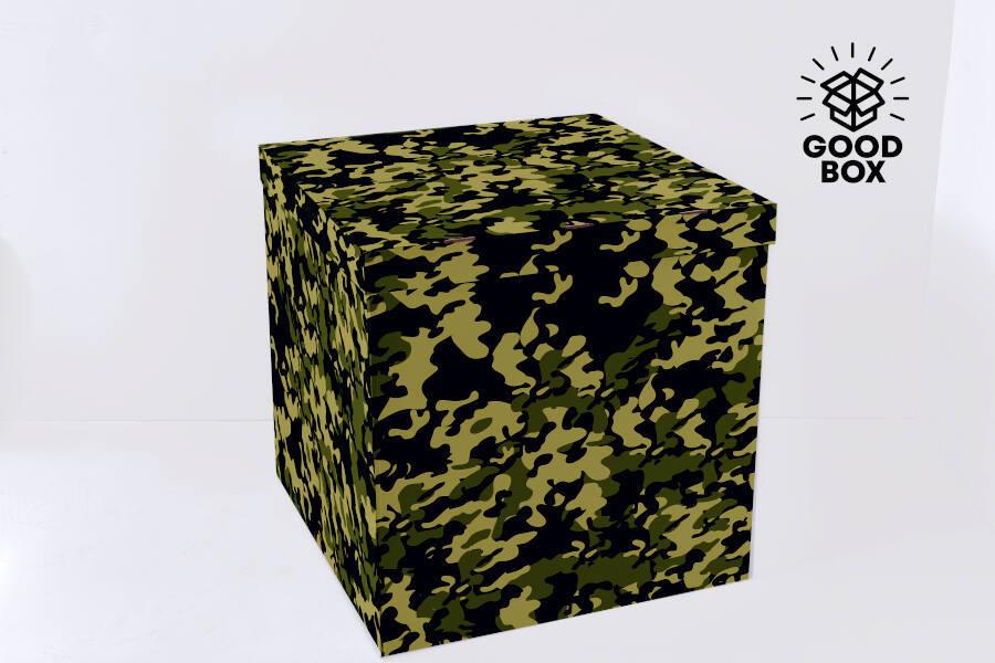Большая коробка для шаров камуфляжного цвета купить в Казахстане