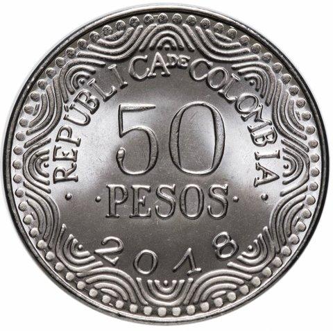 50 песо. Колумбия. 2018 год. UNC
