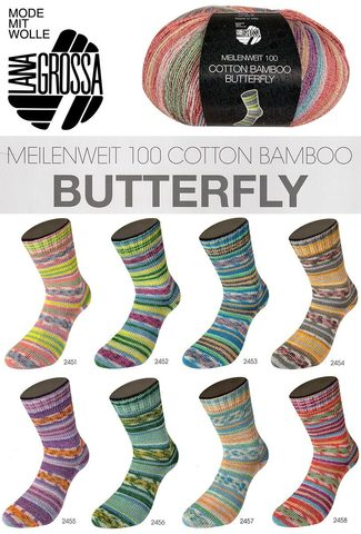 Lana Grossa Meilenweit Cotton Bamboo Butterfly 2455