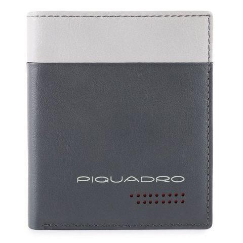 Чехол для кредитных карт Piquadro Urban (PP1518UB00R/GRN) серый/черный из кожи