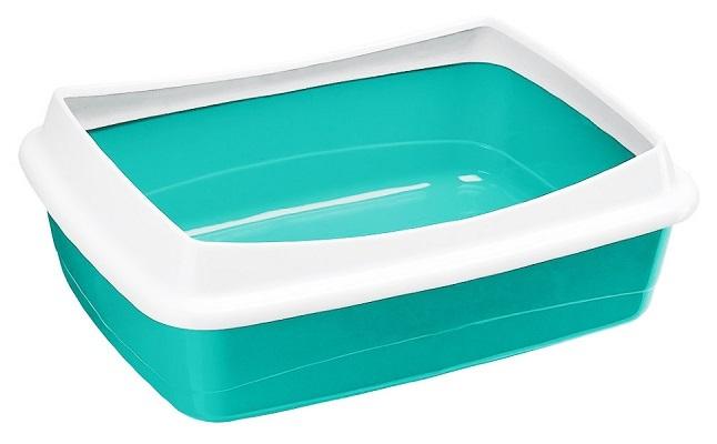 Туалеты, лотки Открытый туалет для кошек Ferplast DODO, с бортом разноцветный, 46 х 35 х 11 см Лоток_DODO.jpg