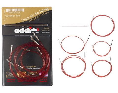 Набор дополнительных лесок к Addi Click 40-100 см и соединительный элемент.