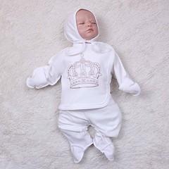 Комплект для новорожденного 3 предмета Queen (молоко)