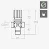 Предварительный термостатический смеситель SOLESTOP 733 - фото №2
