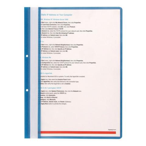 Скоросшиватель пластиковый с перфорацией Attache А4 до 100 листов синий (толщина обложки 0.11/0.15 мм, 10 штук в упаковке)