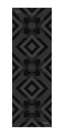 Коврик для йоги Asana Travel Quadrum 183*61*0,1 см из микрофибры и каучука
