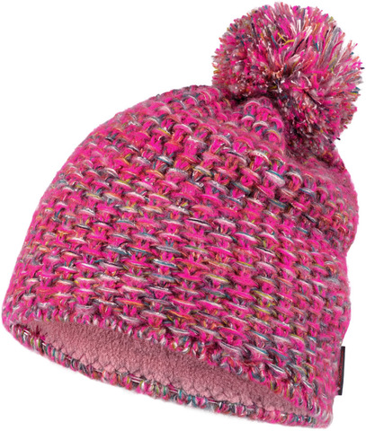Шапка вязаная с флисом Buff Hat Knitted Polar Grete Pink фото 1