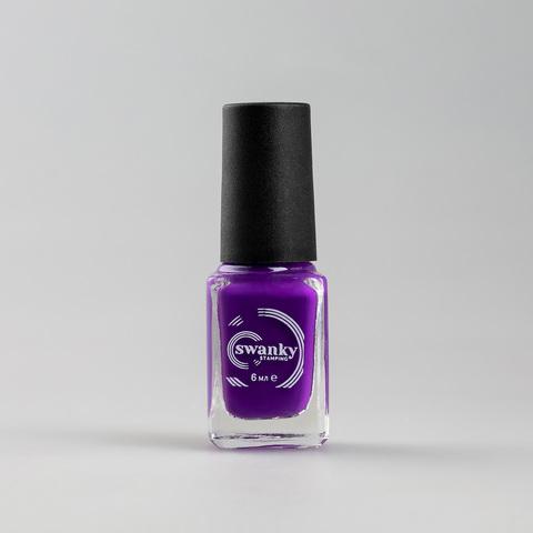 Лак для стемпинга Swanky Stamping S10, фиолетовый, 6 мл.