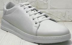 Модные кроссовки туфли в спортивном стиле женские Evromoda 141-1511 White Leather.