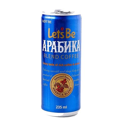 Безалкогольный кофейный напиток Lotte Let's Be Arabica негазированный  235 мл